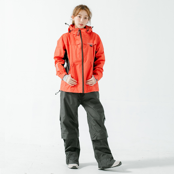 君邁雨衣,Aero9項專利透氣兩件式風雨衣,橘紅