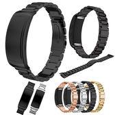 三星 Gear Fit2 Pro 錶帶 智慧手錶錶帶 三珠不銹鋼手腕帶金屬 手錶錶帶 替換錶帶 手錶帶