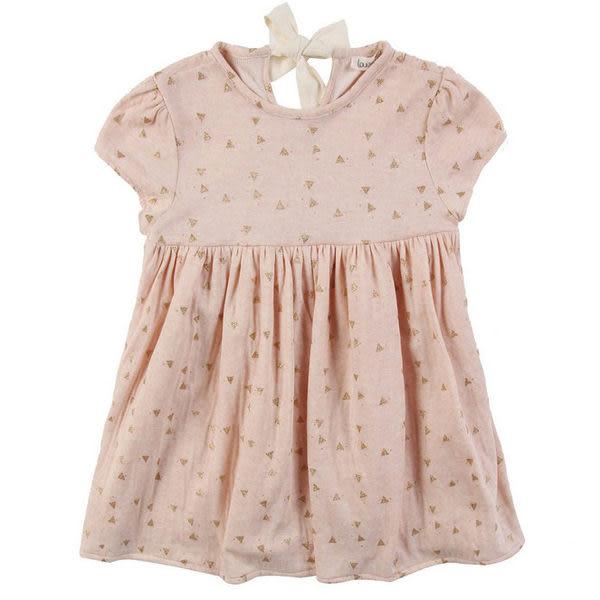 洋裝/裙子 法國 Louise Misha 柔粉金色三角形綁帶小洋裝