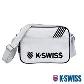 K-SWISS KS Pu Shoulder Bag休閒斜背包-白