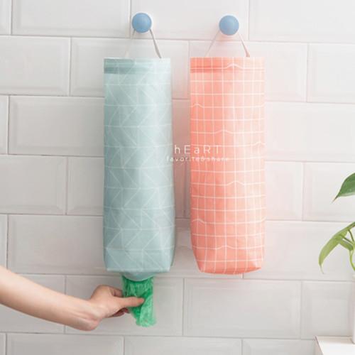 幾何簡約抽取式塑膠袋收納掛袋 居家雜貨 防水 包溫罩