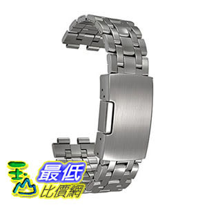 [104美國直購] Pebble Steel Stainless Metal Watchband - Retail Packaging - Brushed Stainless 錶帶