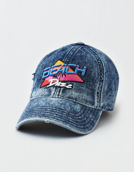(BJGO) AMERICAN EAGLE 男裝 AEO DENIM BEACH DAZE STRAPBACK HAT美國老鷹logo牛仔棒球帽 新品代購