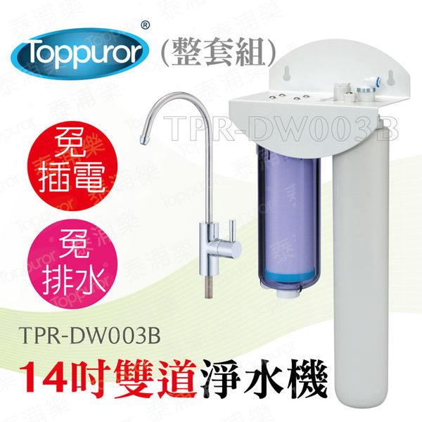 【泰浦樂 Toppuror】14吋雙道生飲淨水機(整套組)TPR-DW003B