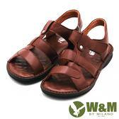 W&M 寬帶防滑軟墊 露齒涼鞋 男鞋-淺咖(另有黑)