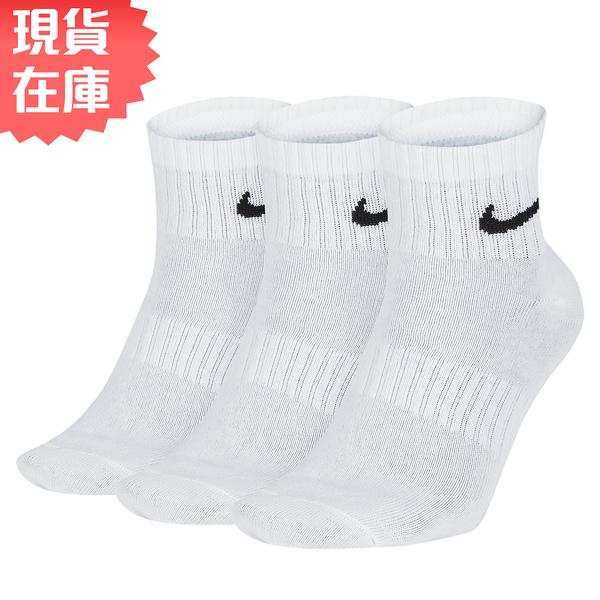 【現貨】NIKE Everyday Lightweight 襪子 長襪 中筒 薄款 白【運動世界】SX7677-100