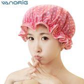 廚房做飯炒菜防油帽防水油煙頭套沐浴帽帽子成人女款洗澡浴帽 初見