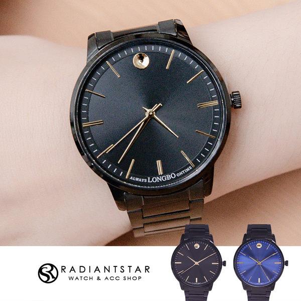 韓國LONGBO停駐時光的守候簡約金屬鍊帶手錶【WLO80551】璀璨之星☆