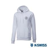 K-SWISS High Front Hoodie 刷毛連帽上衣-男-白
