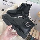 (全館一件免運)DE SHOP~(RT-6002)馬丁靴女英倫風學生百搭騎士靴短靴
