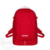 【現貨秒寄】Supreme 46TH Backpack 後背包 紅色 可調式肩帶 滿版 潮流 白字 紅標 SS19B6