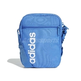 adidas 斜背包Linear Core Organizer Bag 藍白男女款 休閒【PUMP306 】DT8627