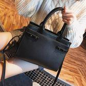 韓版時尚包荔枝紋側背包手提斜挎百搭簡約休閒女包
