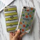 【SZ15】iPhone7plus手機殼 日韓夜光閃粉檸檬西瓜 全包軟殼 iPhone6/6s plus手機殼