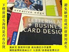 二手書博民逛書店creative罕見edge LETTERHEAD+BUSINESS CARD DESIGN 創意優勢 信頭+名片