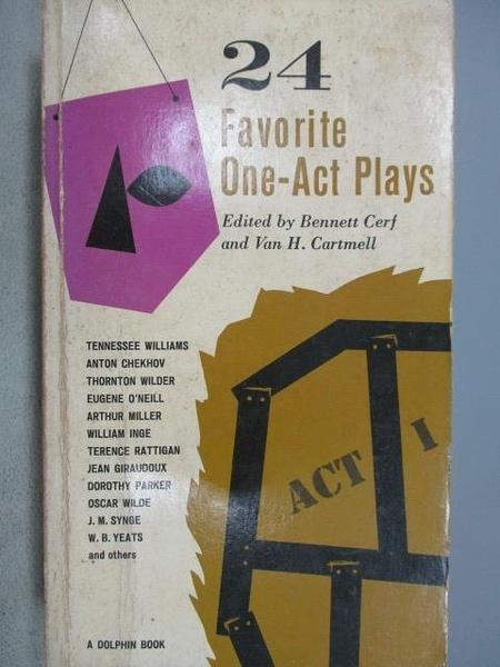【書寶二手書T8/藝術_MMZ】24 Favorite One-Act Plays