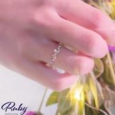 戒指 韓國直送‧甜美蝴蝶結水鑽戒指-Ruby s 露比午茶