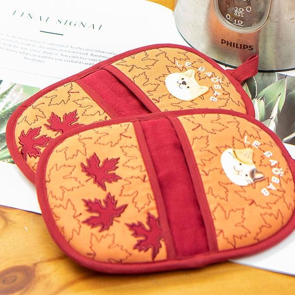 楓葉紅通通隔熱手套