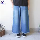 【早秋新品】American Bluedeer - 抽繩薄牛仔寬褲(魅力價)  秋冬新款