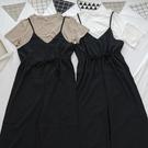 洋芋妹-9031細肩帶寬鬆闊腿吊帶兩件式套裝 2色【SB12700】