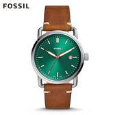 FOSSIL COMMUTER 淺棕色皮革手錶 男FS5540