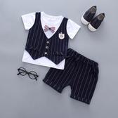 0夏款1男童周歲生日禮服套裝2寶寶英倫馬甲3嬰幼兒短袖小西裝4潮