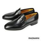 【MAGNANNI】時尚樂福紳士皮鞋 黑...