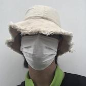 New Boy古著定制 19ss韓國日系毛邊漁夫帽簡約休閒遮陽帽 男女款 錢夫人