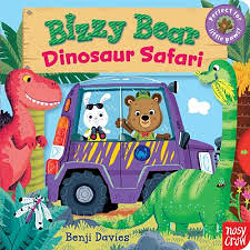 【Bizzy Bear 可愛操作書】DINOSAUR SAFARI / 硬頁書
