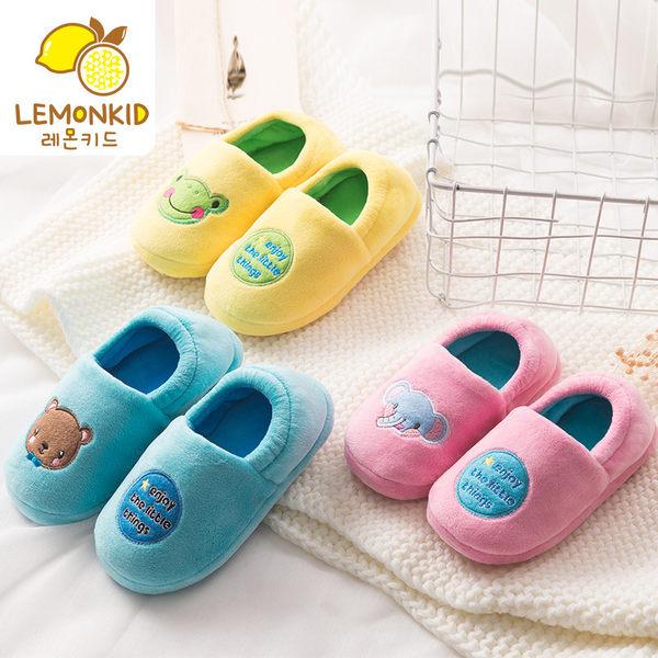 Lemonkid 檸檬寶寶 冬季保暖兒童動物樂園包鞋室內拖鞋 LE220417