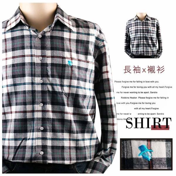 【大盤大】(S16636) 男 100%純棉口袋襯衫 格紋格子 法蘭絨 蘇格蘭 輕刷毛 商務上班族 休閒衫