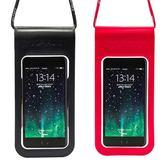 狼巖手機防水袋潛水套觸屏游泳手機包通用水下拍照手機袋蘋果華為 卡布奇诺