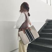 新款韓版時尚女士手提包OL職業商務通勤公文包大學生上課單肩布包