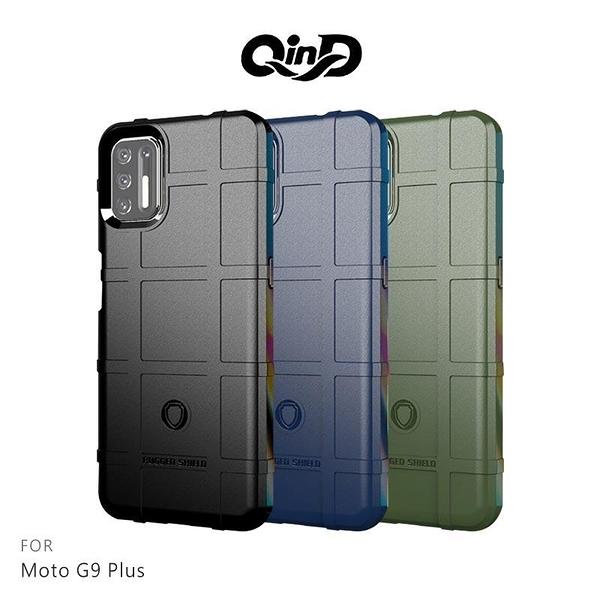 【愛瘋潮】QinD Moto G9 Plus 戰術護盾保護套 背蓋式 手機殼 鏡頭加高 軟殼 保護殼 保護套