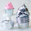 蛋糕盒甜品盒50/60金色銀色卷邊紙杯 ...