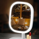 化妝鏡 led化妝鏡帶燈臺式女網紅美妝補光小鏡子宿舍桌面折疊便攜梳妝鏡【快速出貨八折鉅惠】