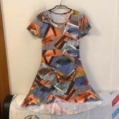 韓版顯瘦修身基本款短袖洋裝(S號/222-7307)