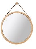 北歐圓鏡子貼墻壁掛式廁所浴室鏡子掛墻式化妝鏡梳妝鏡衛生間掛鏡 萬聖節鉅惠
