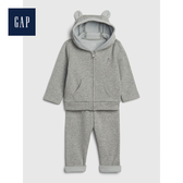 Gap男女嬰兒長袖連帽運動服套裝513702-亮麻灰色