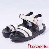 ★2017春夏新品★itabella.真皮撞色厚底涼鞋(7306-14白)
