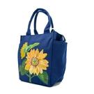 朵那的手繪包 執著的愛戀-向日葵 帆布手提袋
