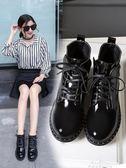 馬丁靴 粗跟馬丁靴女英倫風學生韓版百搭18新款小跟短靴女靴單靴 早秋低價促銷