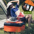 Mr.Box【009035-01】露營桌椅折疊收納箱-大款(橘黑色)