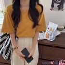 熱賣短袖T恤 拉窩姐姐今年流行的打底衫新款純棉白t恤短袖女圓領純色百搭體恤【618 狂歡】