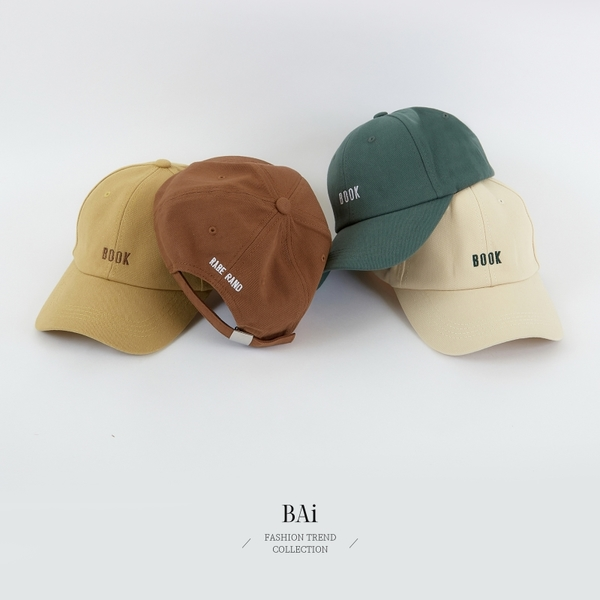 BOOK英字配色刺繡棒球帽-BAi白媽媽【316154】