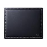 【日本代購】三和 皮革滑鼠墊 真皮日本皮革工廠製, 200-mpd017, 黑色