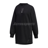 adidas 長袖T恤 Style Tunic 黑 白 女款 長版 運動休閒 【ACS】 GF7032