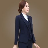 西裝外套    小西服職業裝女裝長袖兩粒扣大碼短款正裝上衣