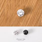磁鐵耳環 水鑽鋯石8MM 奢華耀眼圓形 基本款式不分男女 柒彩年代【ND255】單顆