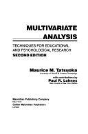 二手書《Multivariate Analysis: Techniques for Educational and Psychological Research》 R2Y ISBN:0024191205